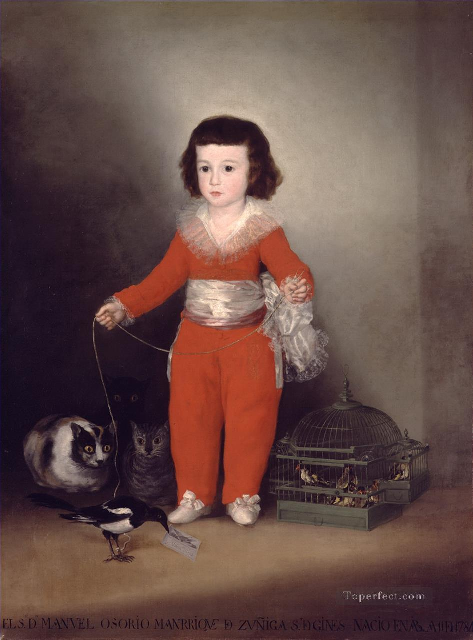Don Manuel Osorio Manrique de Zuniga Francisco de Goya Oil Paintings