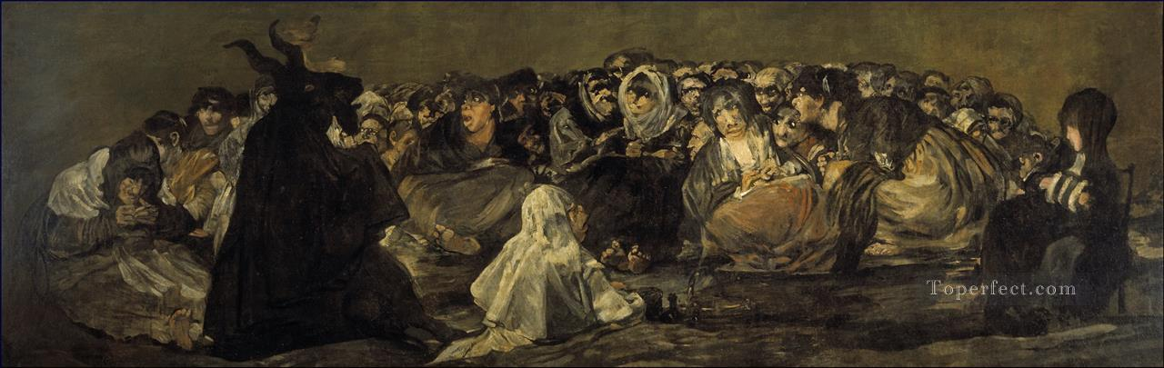 The Great He Goat Or Witches Sabbath Francisco de Goya Oil Paintings