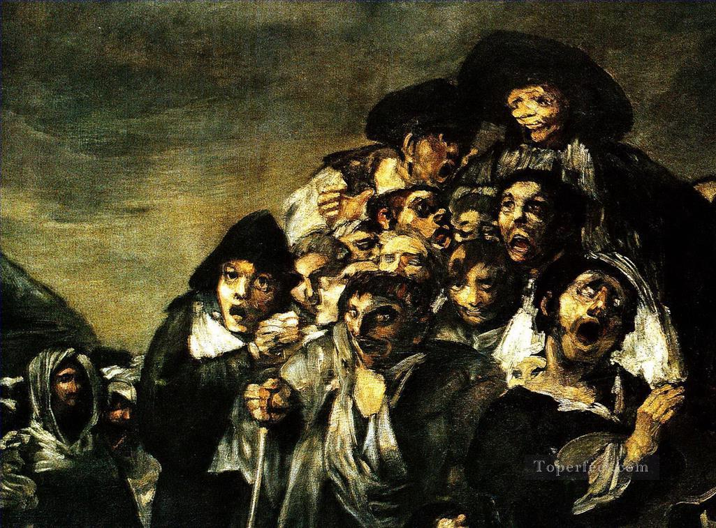 The Pilgrimage of San Isidro detail Francisco de Goya Oil Paintings