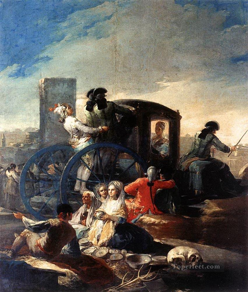 The Crockery Vendor Romantic Modern Francisco Goya Painting In Oil - Francisco goya paintings