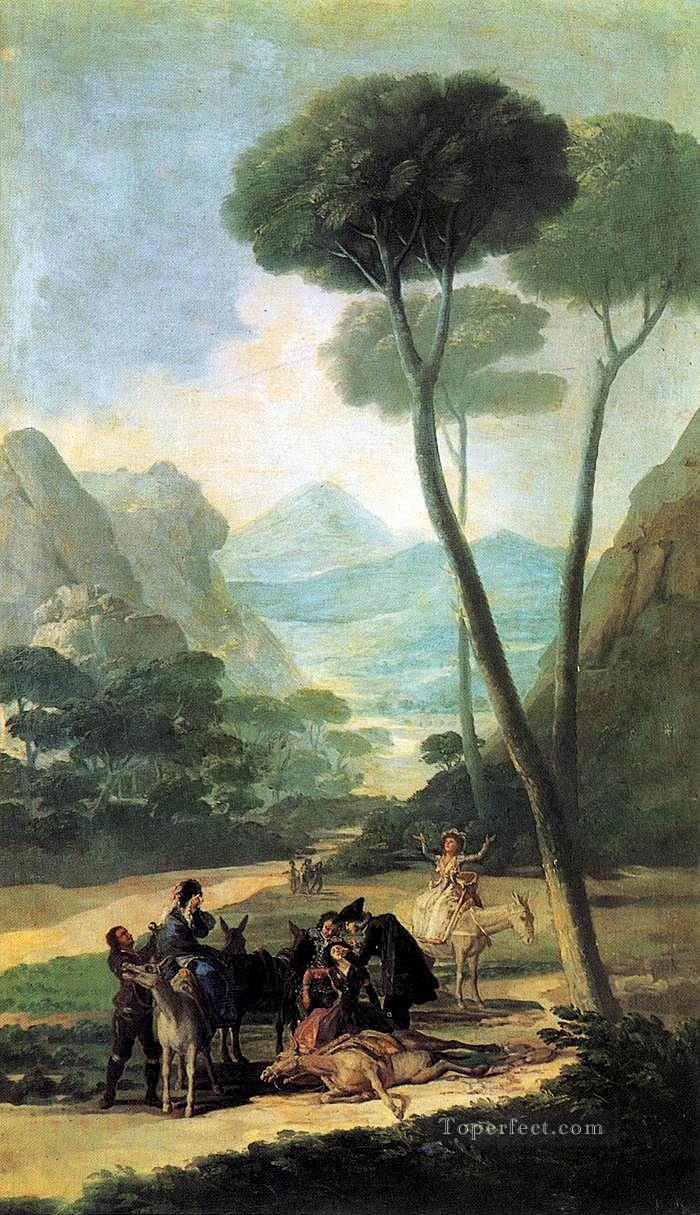 The Fall or The Accident Francisco de Goya Oil Paintings