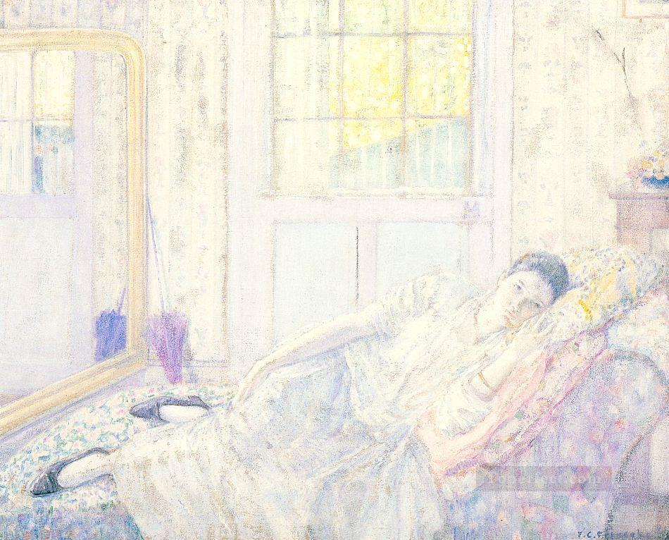 Rest Impressionist women Frederick Carl Frieseke Oil Paintings