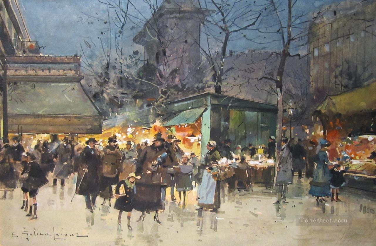 Grand Boulevards Galien Eugene Oil Paintings
