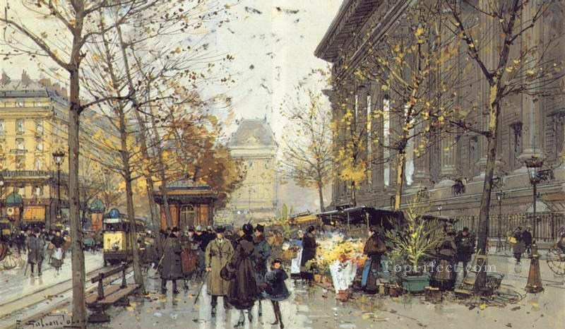 La Madeleine2 Parisian gouache Eugene Galien Laloue Oil Paintings