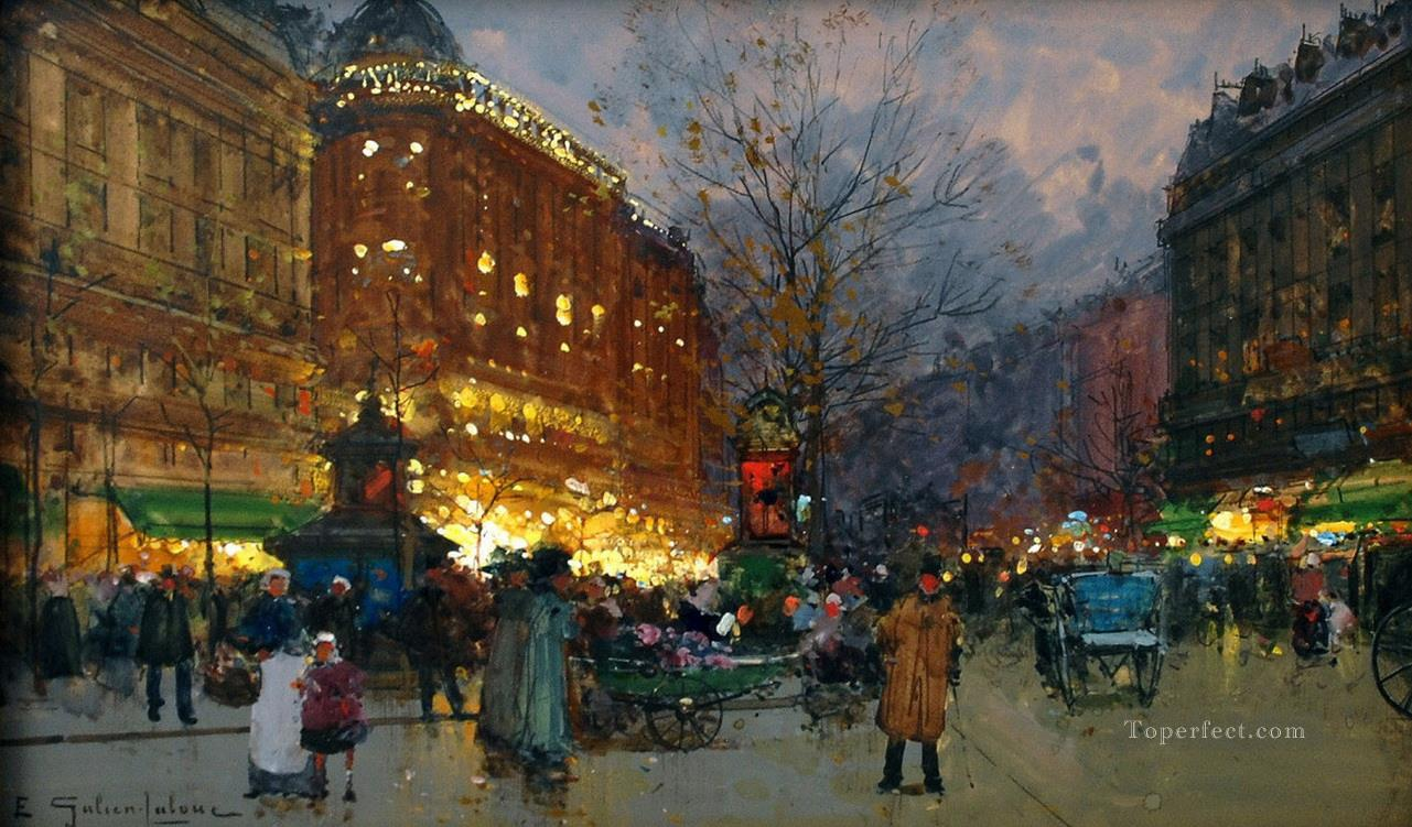 Le Grand Boulevard Galien Eugene Oil Paintings