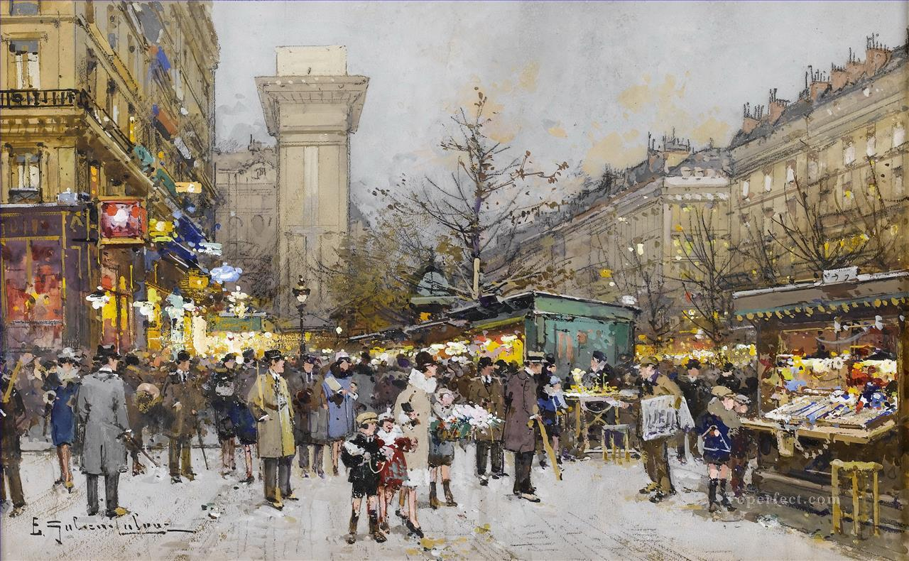 Paris Porte Saint Denis 5 Galien Eugene Oil Paintings