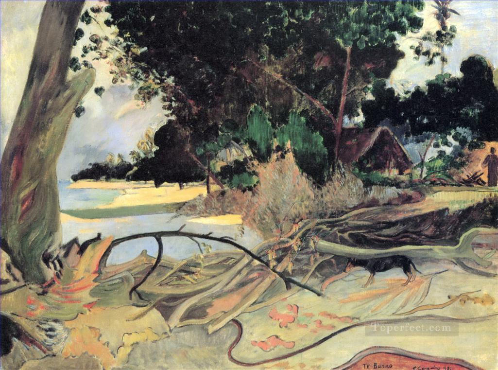 The Hibiscus Tree Paul Gauguin Oil Paintings