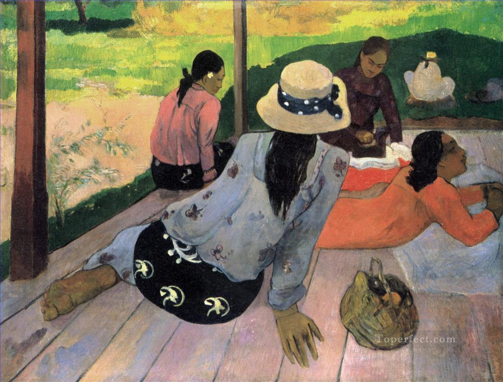Siesta Post Impressionism Primitivism Paul Gauguin Oil Paintings