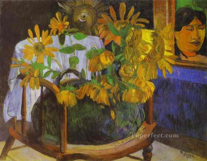 Sunflowers Post Impressionism Primitivism Paul Gauguin Oil Paintings