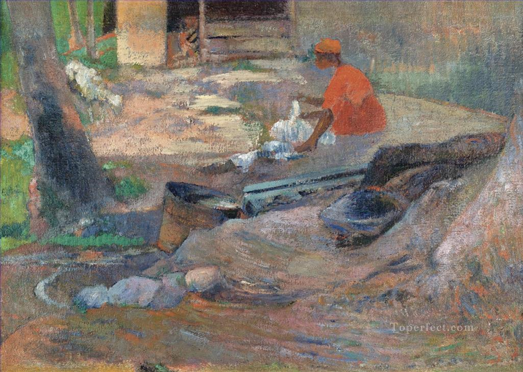 THE LITTLE WASHER Paul Gauguin Oil Paintings