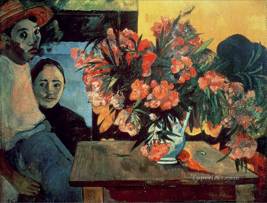 Te Tiare Farani Bouquet of Flowers Post Impressionism Primitivism Paul Gauguin Oil Paintings