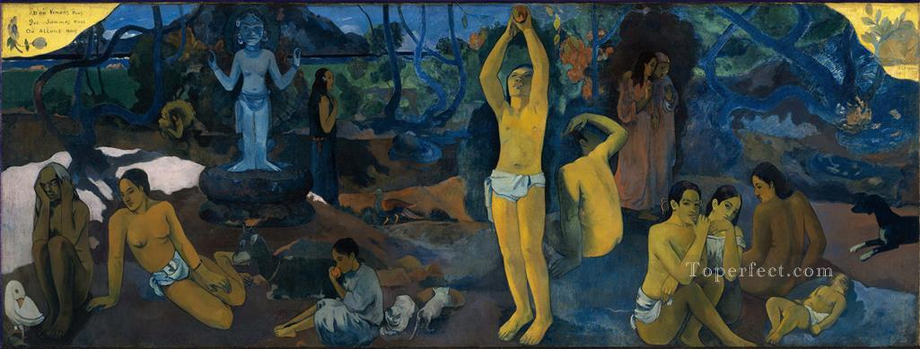 D ou venonsnous Que sommes nous Ou allons nous Where Do We come from What Are We Where Are We Going Paul Gauguin Oil Paintings