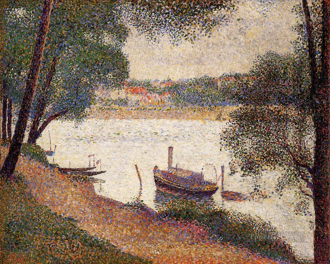 the seine at la grande jatte in the spring 1888 Oil Paintings
