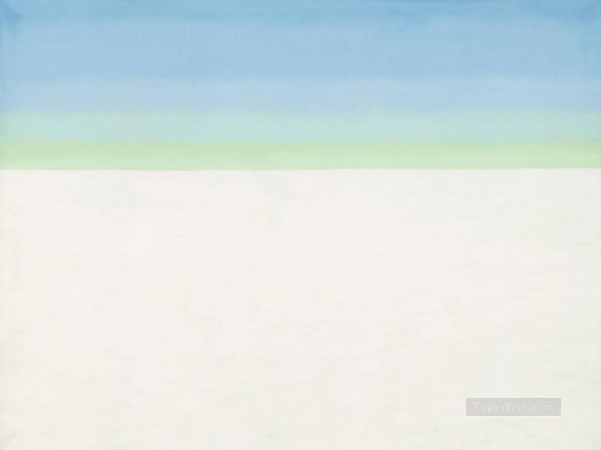 sky with flat white cloud Georgia Okeeffe American modernism Precisionism Oil Paintings