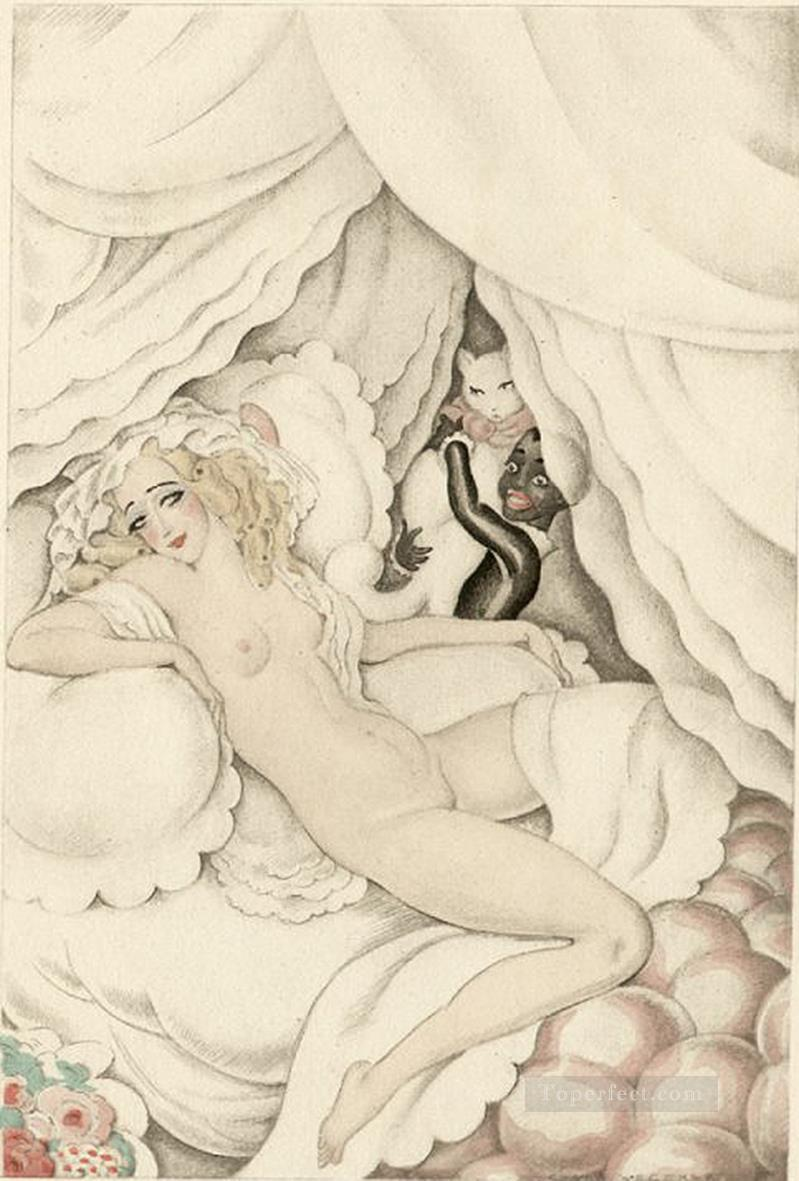 watching Gerda Wegener Oil Paintings