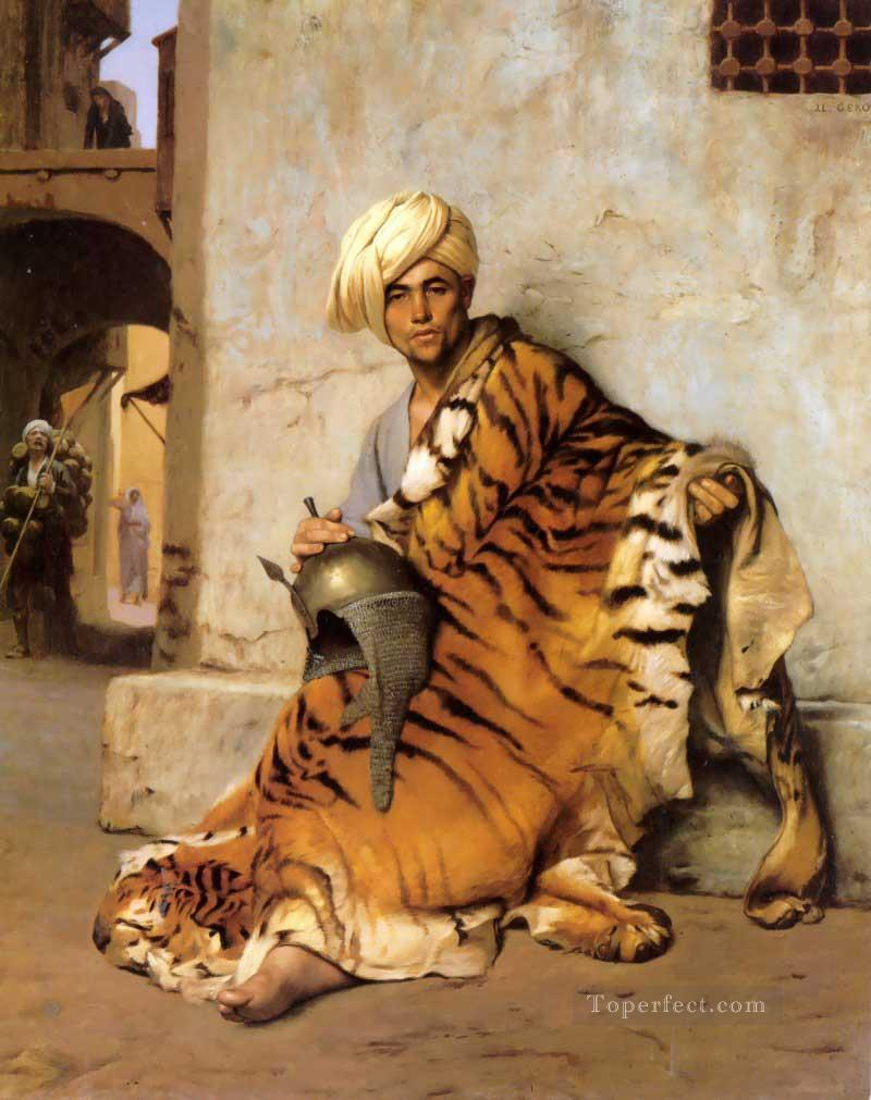 Pelt Merchant of Cairo Greek Arabian Orientalism Jean Leon Gerome Oil Paintings