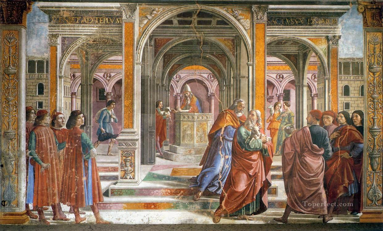 Expulsion Of Joachim From the Temple Renaissance Florence Domenico Ghirlandaio Oil Paintings