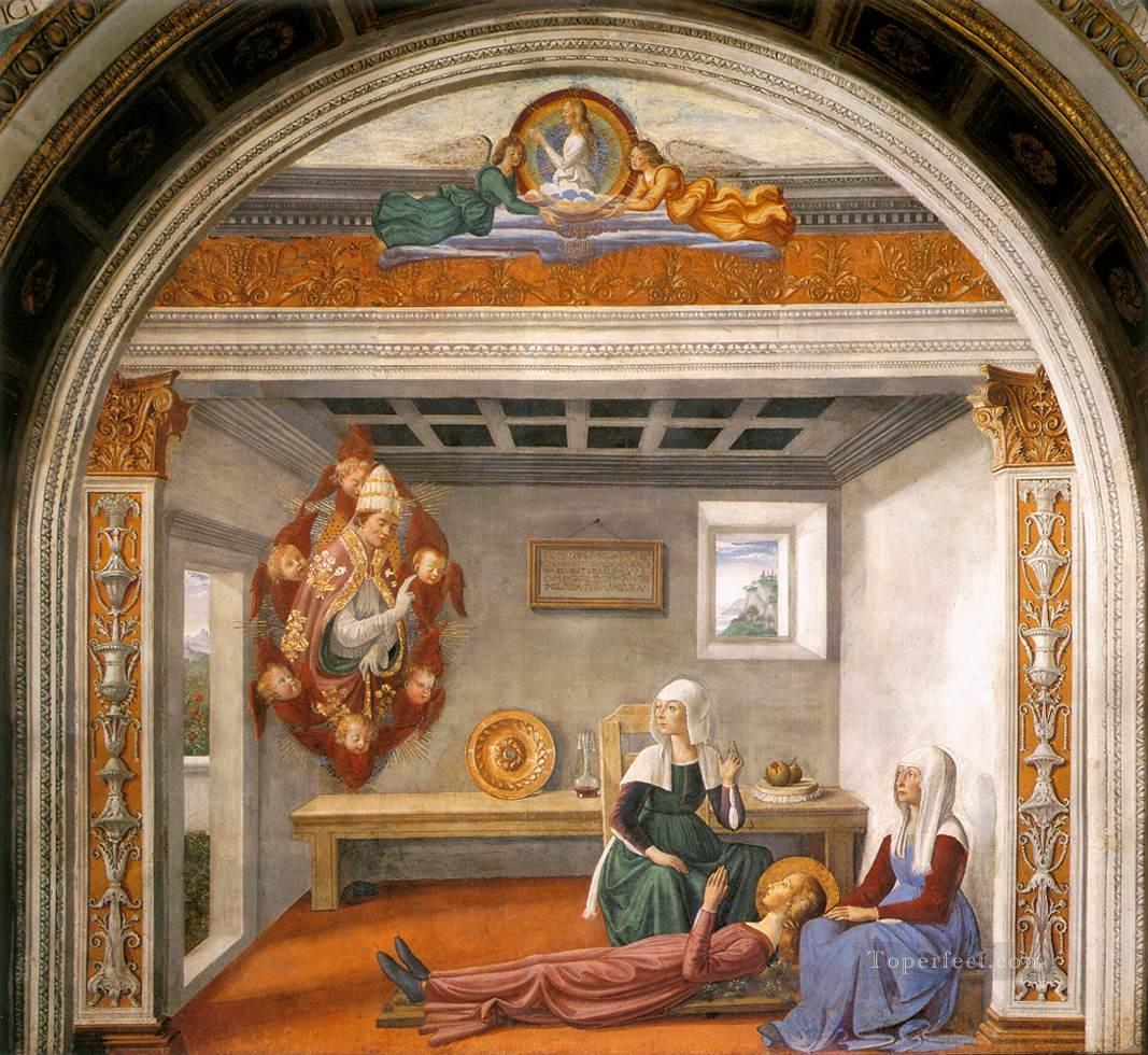 Announcement Of Death To St Fina Renaissance Florence Domenico Ghirlandaio Oil Paintings