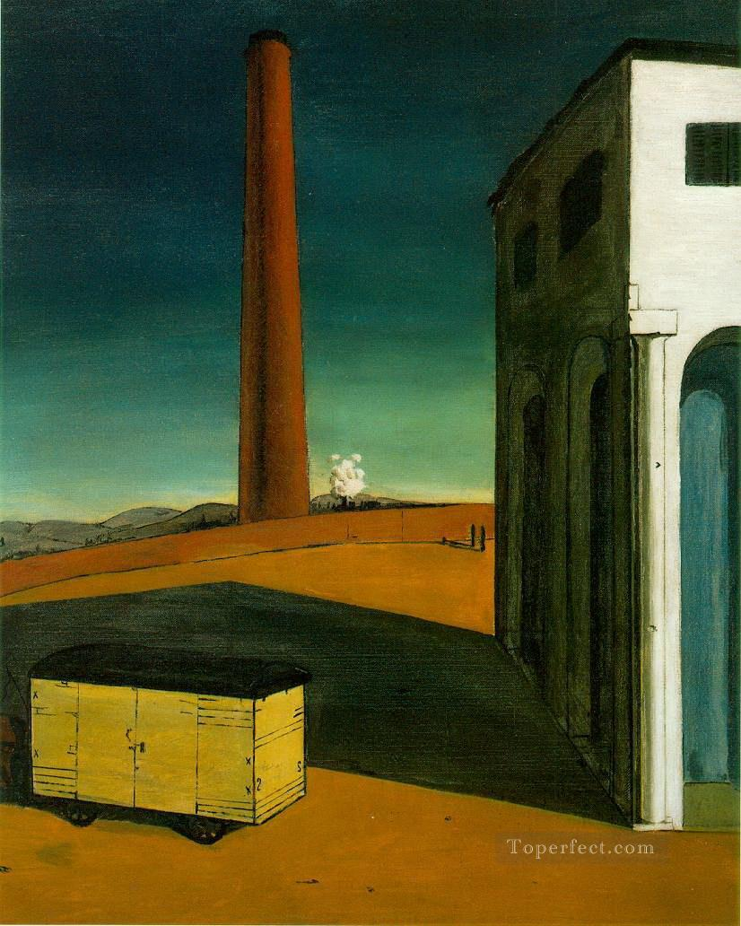 the anguish of departure 1914 Giorgio de Chirico Metaphysical surrealism Oil Paintings