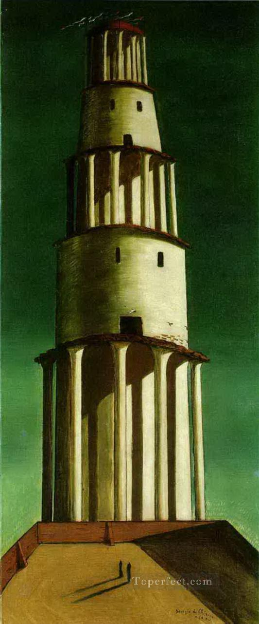 the great tower 1913 Giorgio de Chirico Metaphysical surrealism Oil Paintings