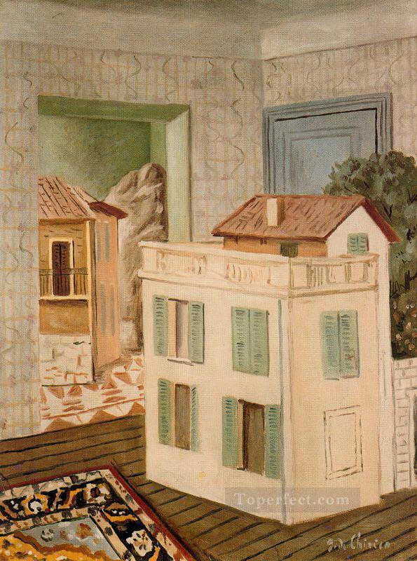 the house in the house Giorgio de Chirico Metaphysical surrealism Oil Paintings