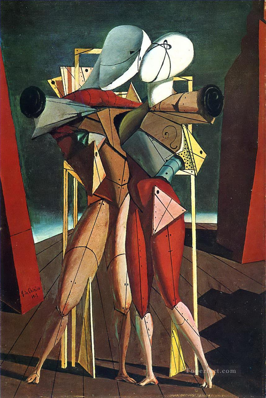 hector and andromache 1912 Giorgio de Chirico Metaphysical surrealism Oil Paintings