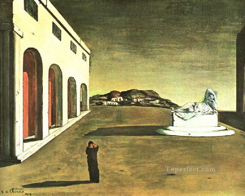melancholy of a beautiful day 1913 Giorgio de Chirico Metaphysical surrealism Oil Paintings