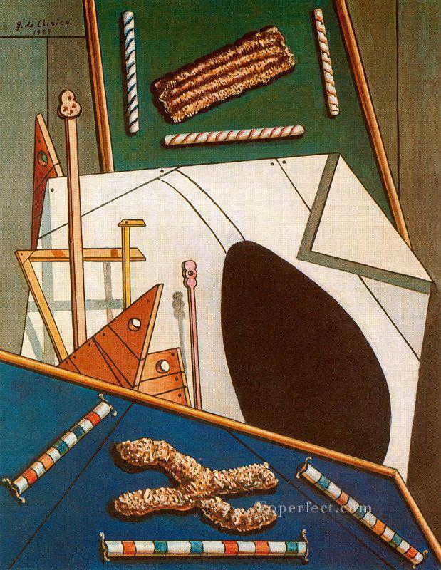 metaphysical interior with biscuits Giorgio de Chirico Metaphysical surrealism Oil Paintings