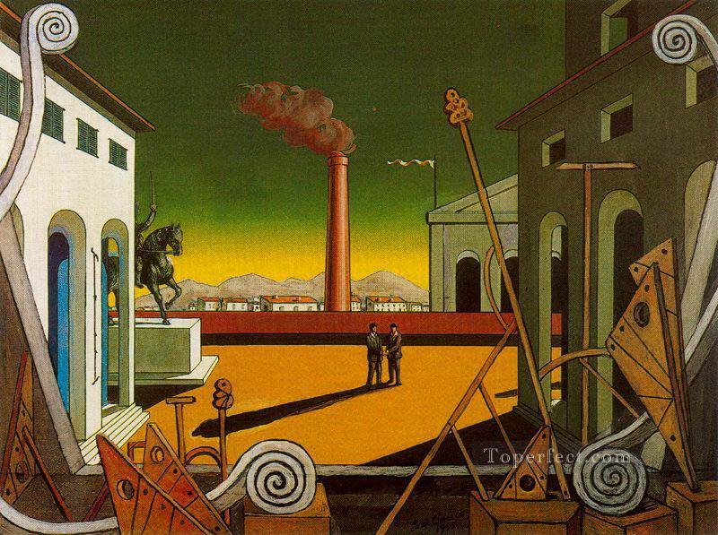 plaza italia great game 1971 Giorgio de Chirico Metaphysical surrealism Oil Paintings