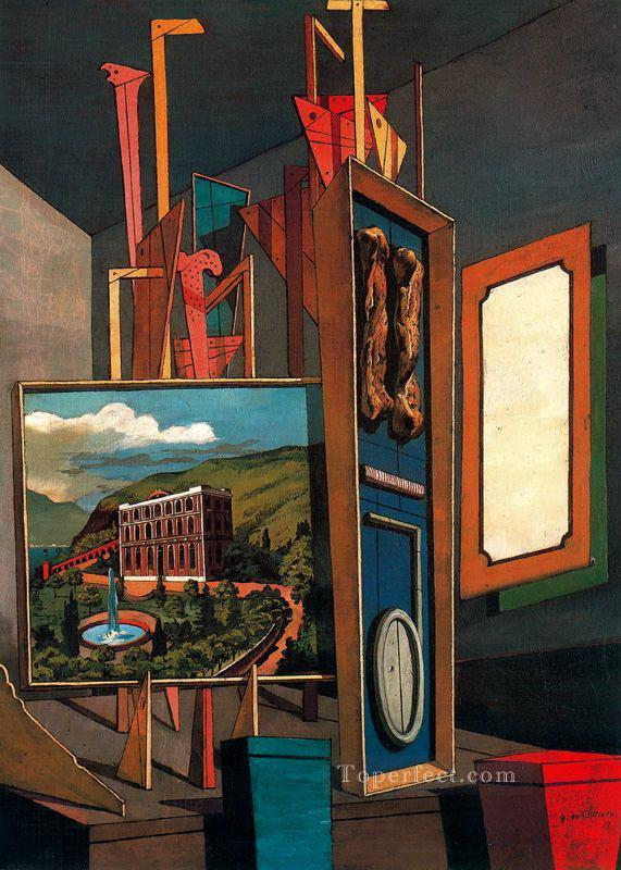 vast metaphysical interior Giorgio de Chirico Metaphysical surrealism Oil Paintings