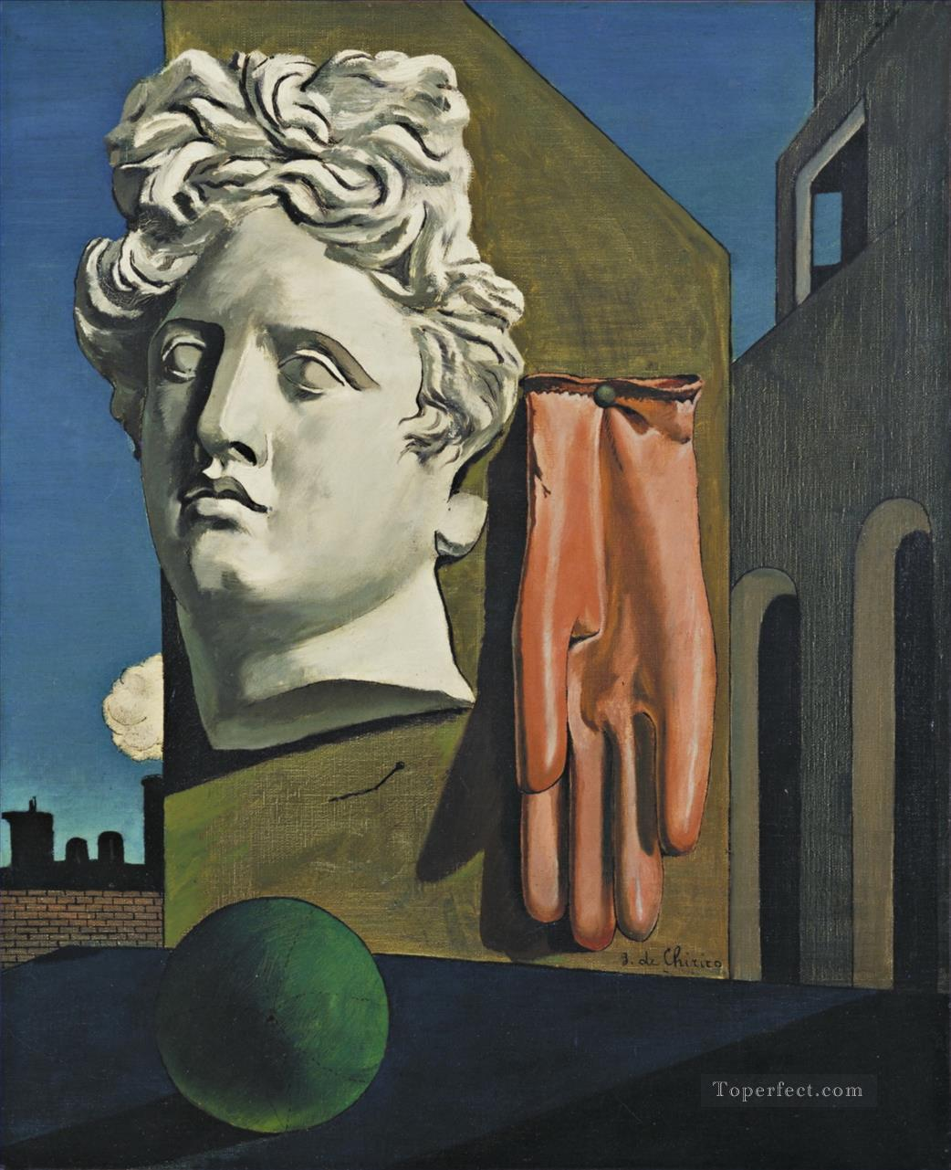 The Song of Love Giorgio de Chirico Metaphysical surrealism Oil Paintings