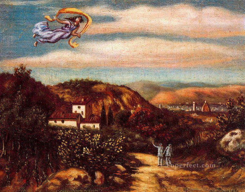 landscape with divinity Giorgio de Chirico Metaphysical surrealism Oil Paintings