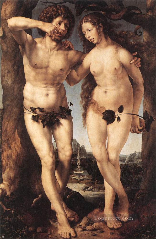 Adam and Eve Jan Mabuse Oil Paintings