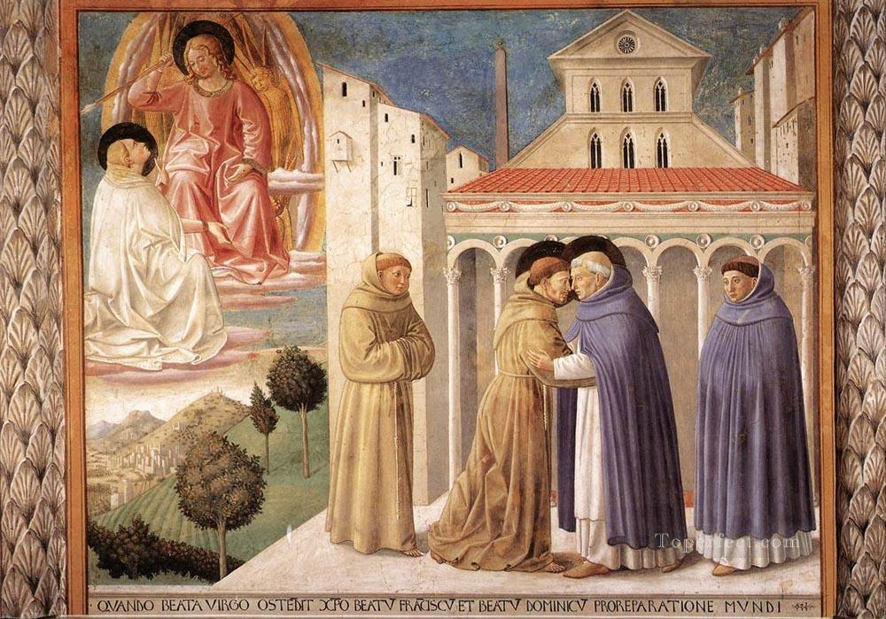Scenes from the Life of St Francis Scene 4south wall Benozzo Gozzoli Oil Paintings