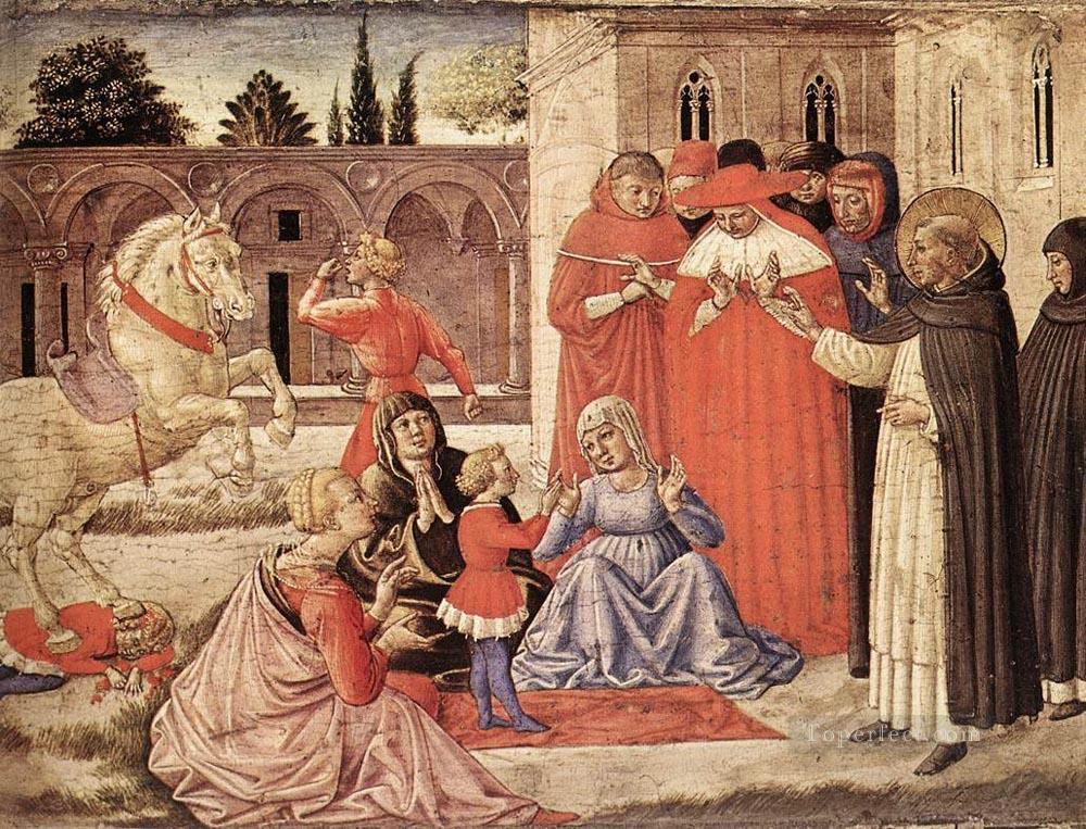 Dominic Resucitates Napoleone Orsini Benozzo Gozzoli Oil Paintings