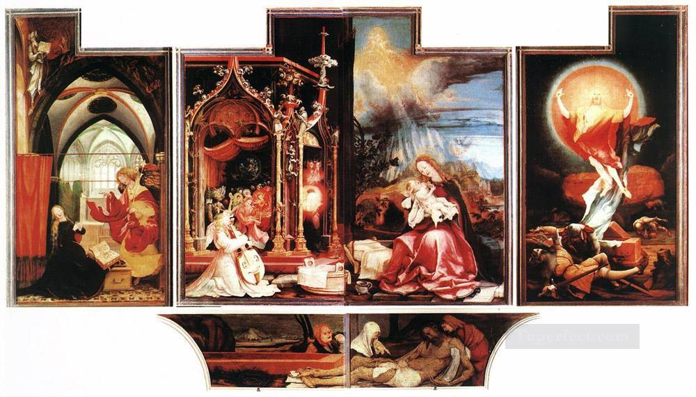 Isenheim Altarpiece second view Renaissance Matthias Grunewald Oil Paintings