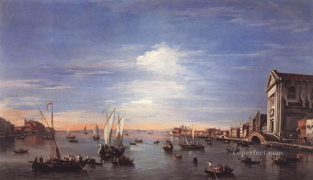 The Giudecca Canal with the Zattere Venetian School Francesco Guardi Oil Paintings
