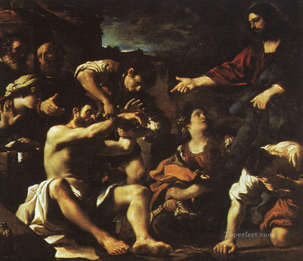 Raising Lazarus Baroque Guercino Oil Paintings