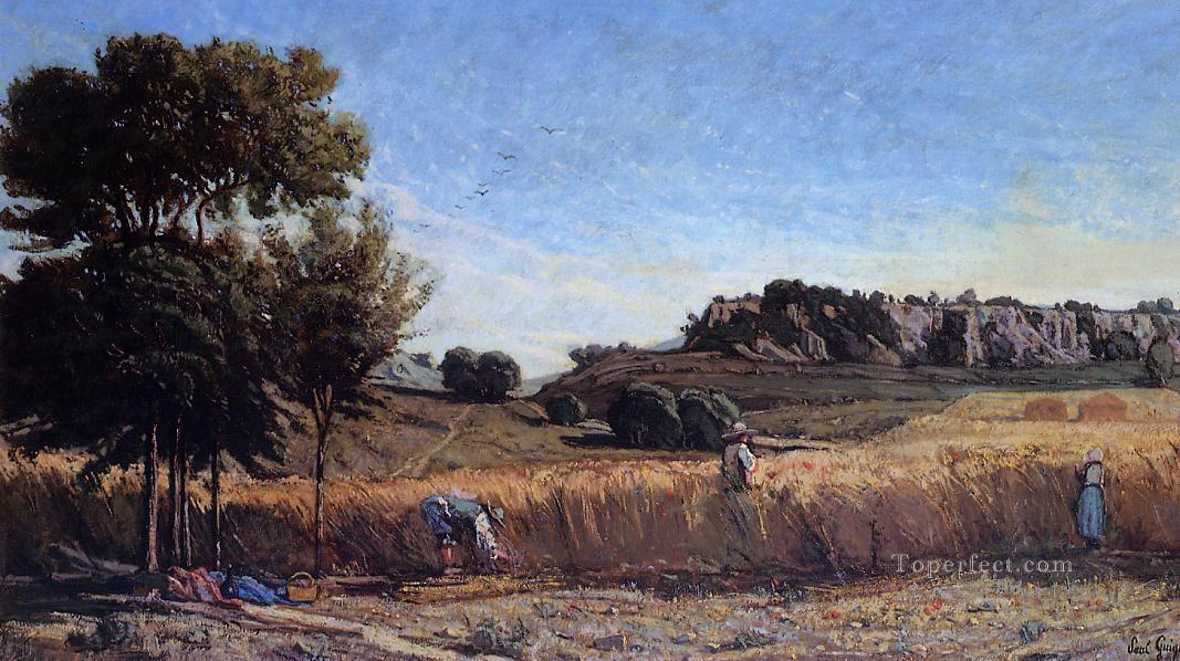 Field of Wheat scenery Paul Camille Guigou Oil Paintings