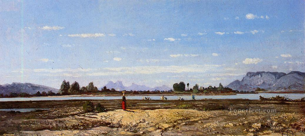 Landscape the Banks of the Durance scenery Paul Camille Guigou Oil Paintings