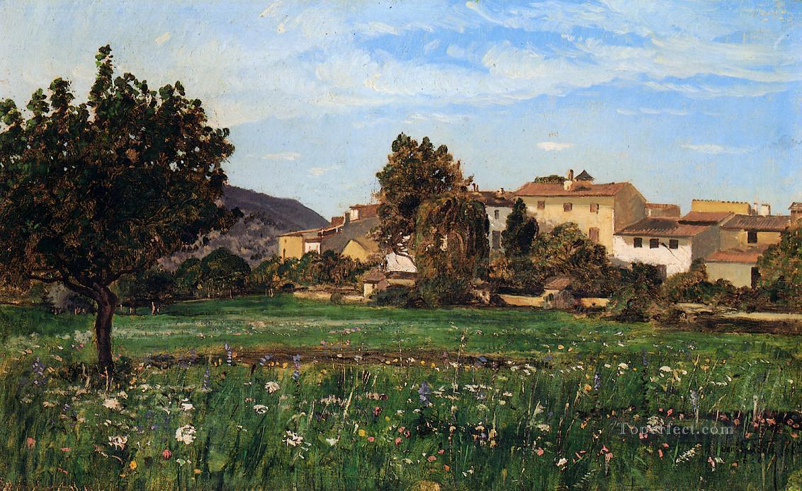 Lourmarin scenery Paul Camille Guigou Oil Paintings