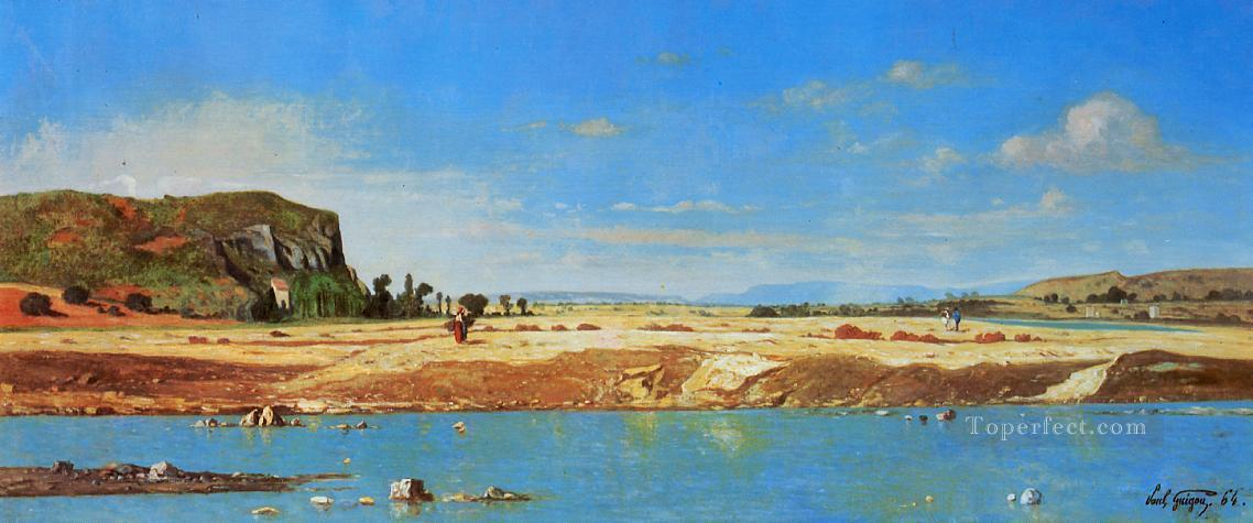 The Banks of the Durance scenery Paul Camille Guigou Oil Paintings