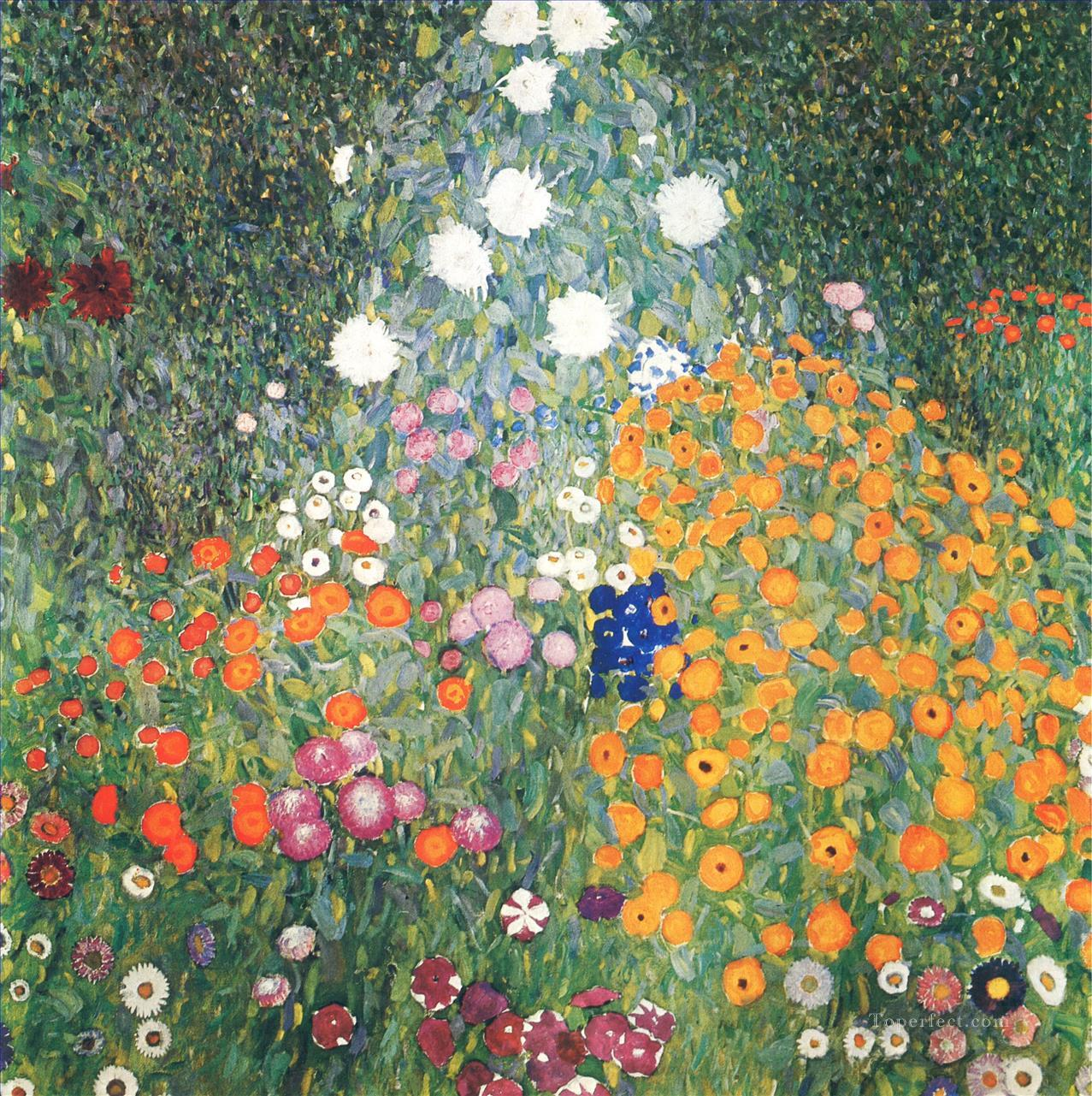Flower Garden Gustav Klimt Oil Paintings