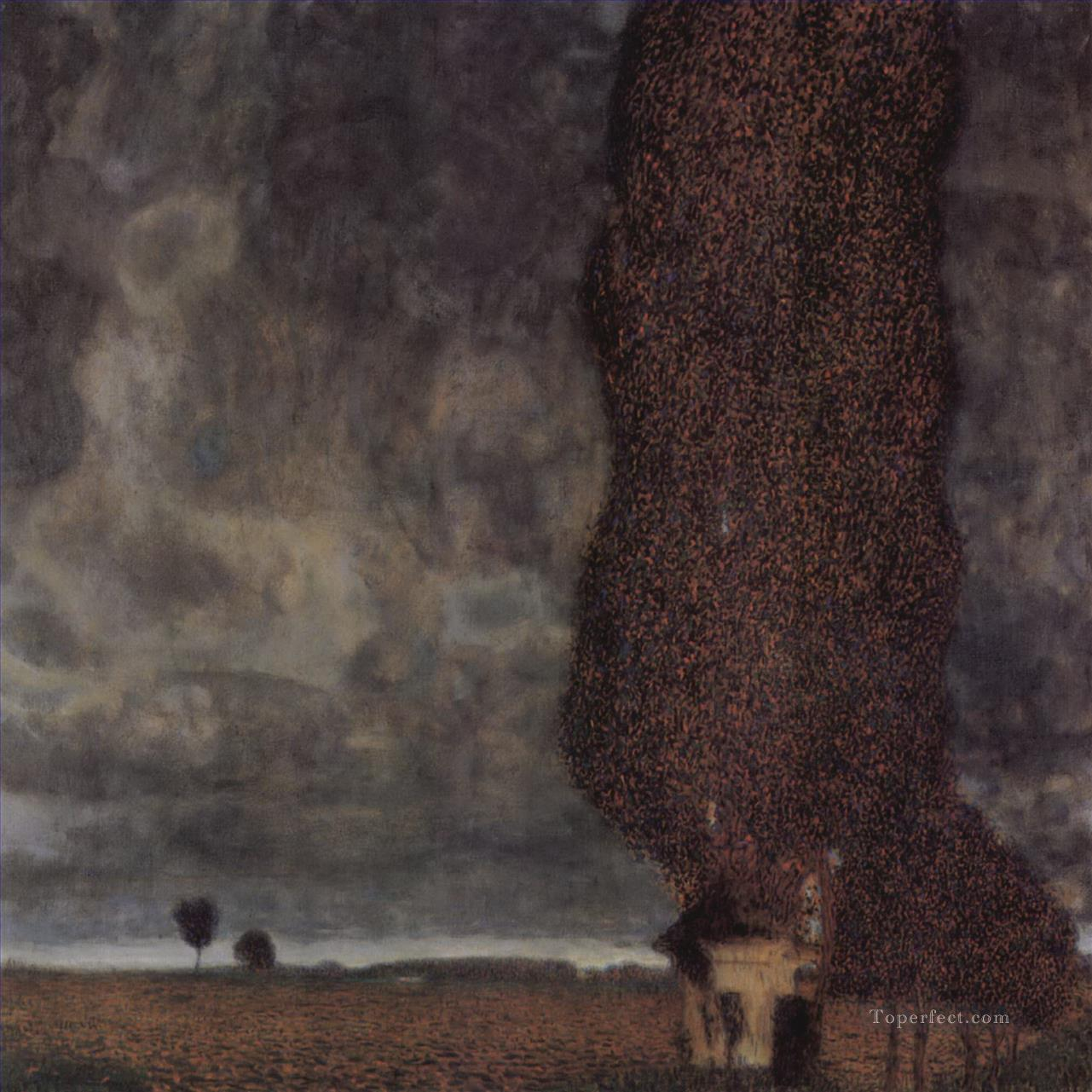 The big poplar ii gustav klimt painting in oil for sale for Gustav klimt original paintings for sale