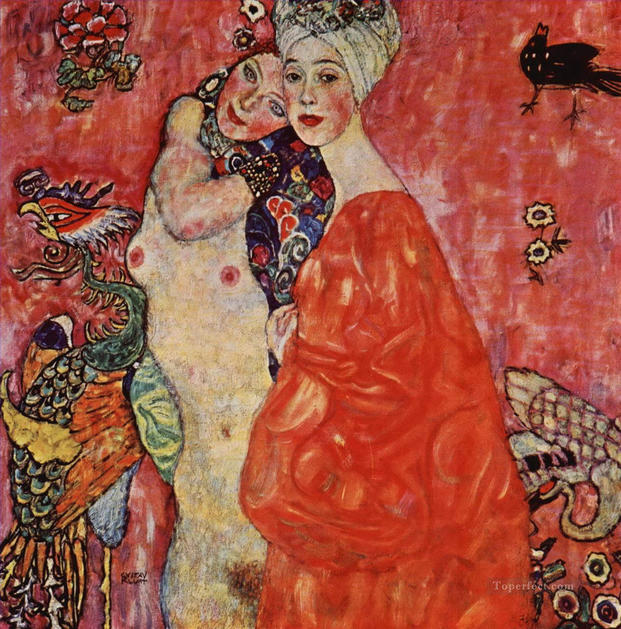 The Women Friends Gustav Klimt Oil Paintings
