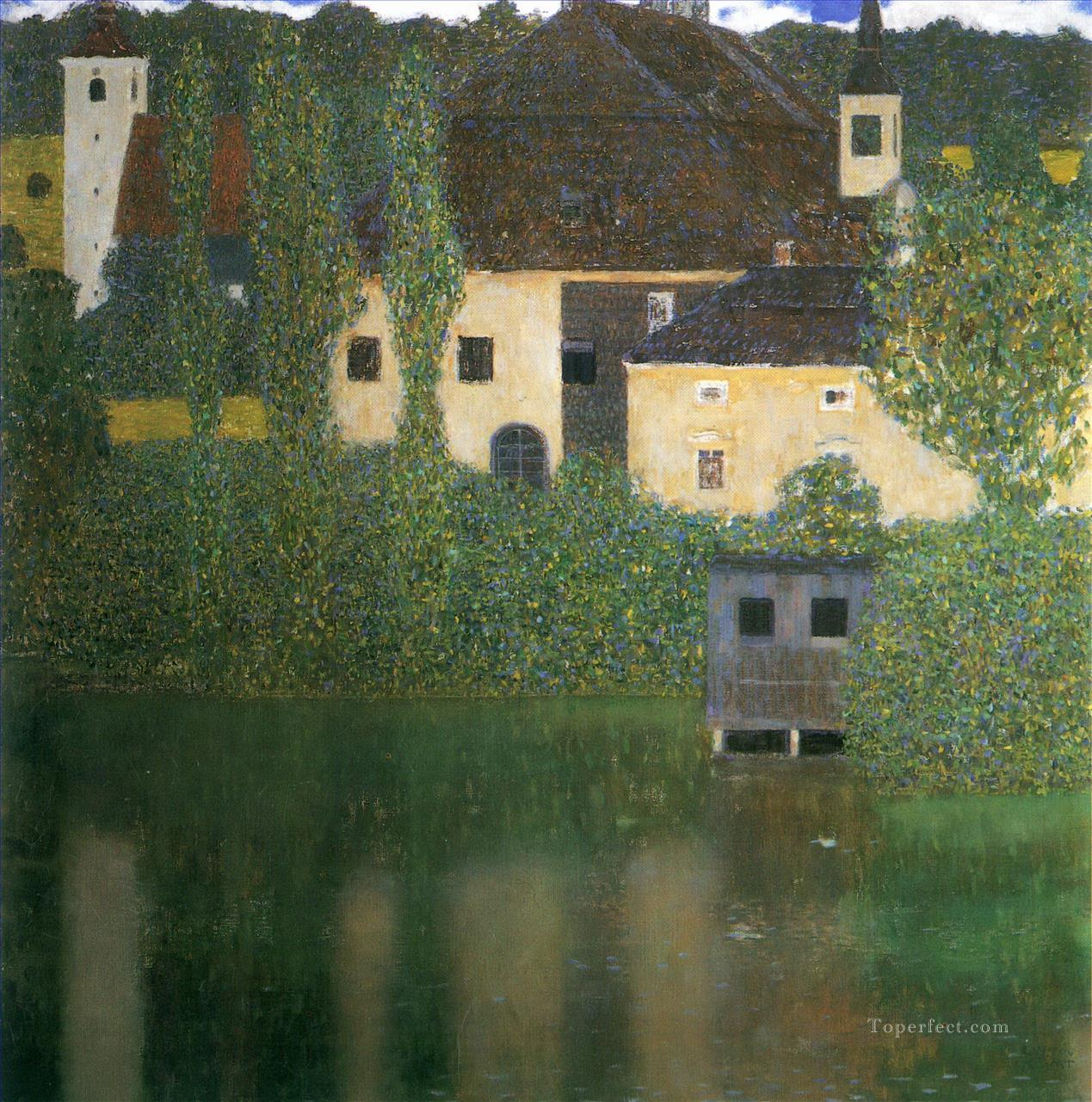 Water Castle Gustav Klimt Oil Paintings