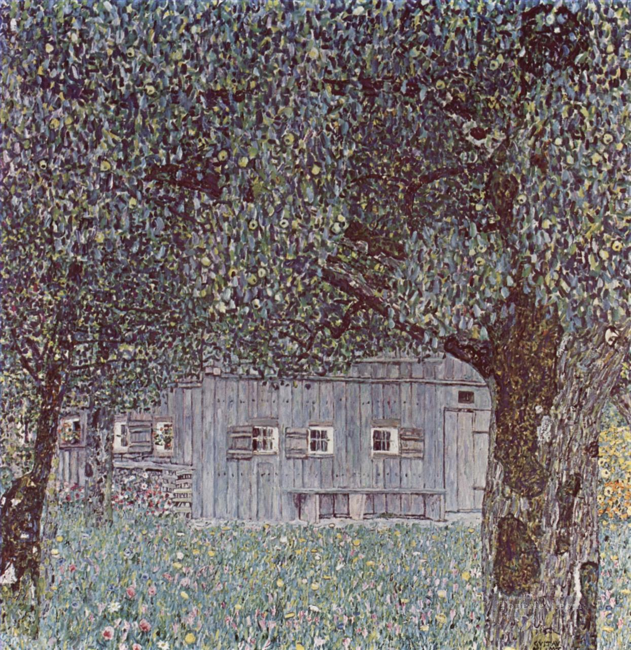 Farmhouse in Upper Austria Gustav Klimt Oil Paintings