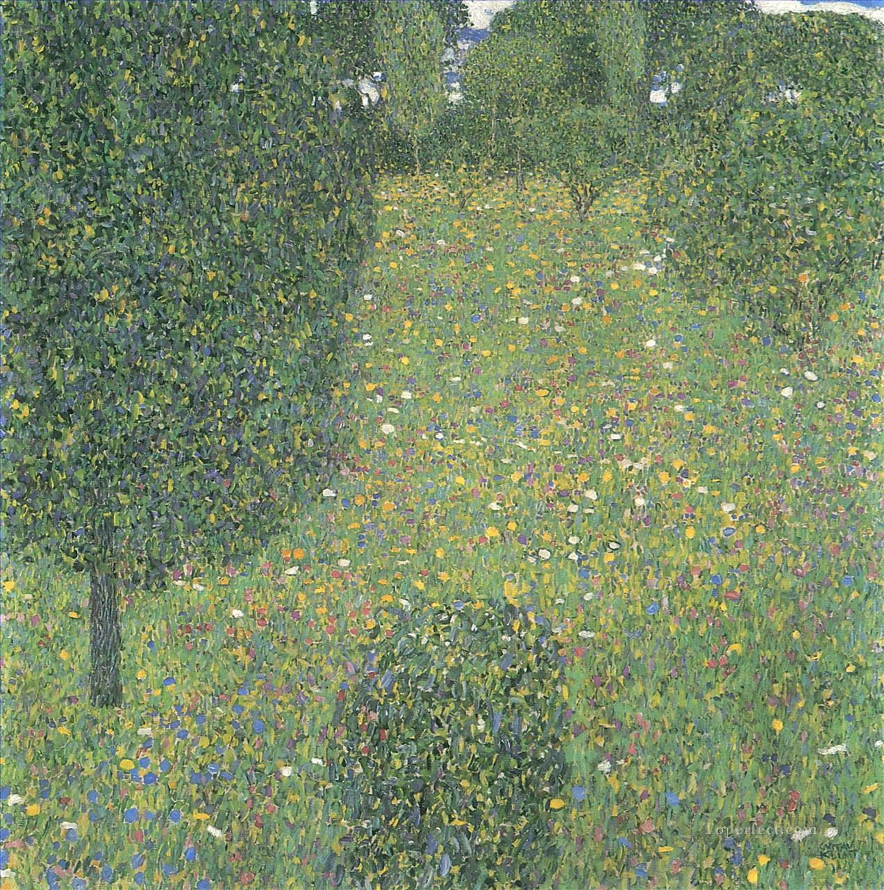 Landscape Garden Meadow in Flower Gustav Klimt Oil Paintings