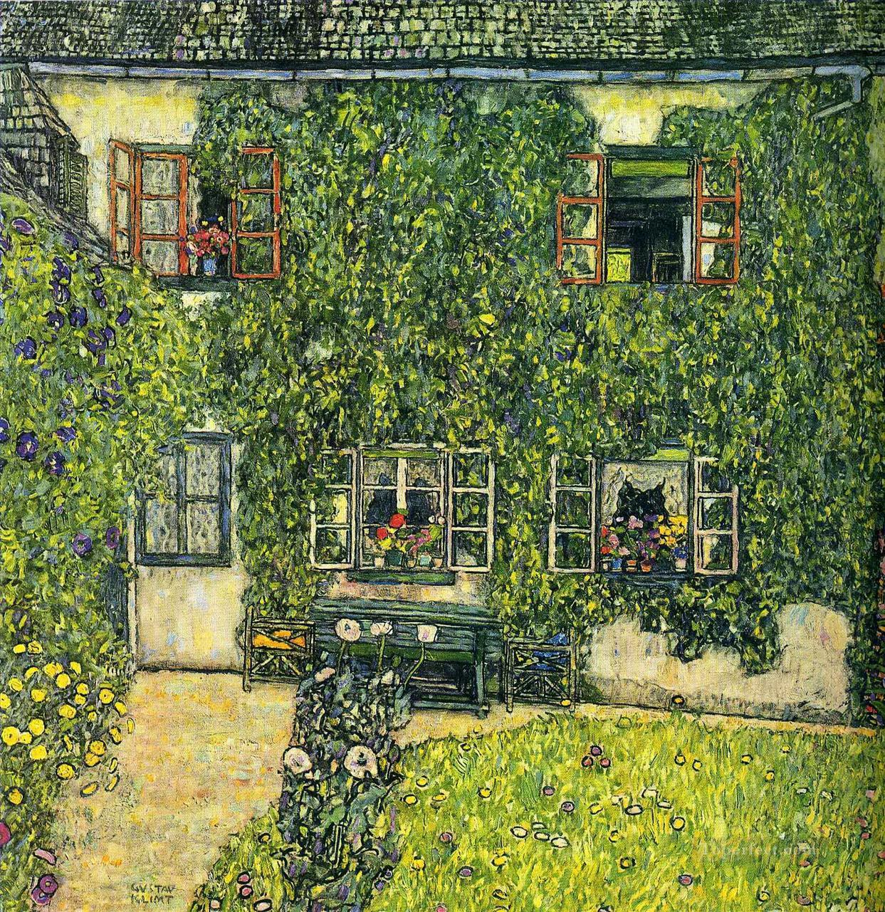 The House of Guardaboschi Gustav Klimt Oil Paintings