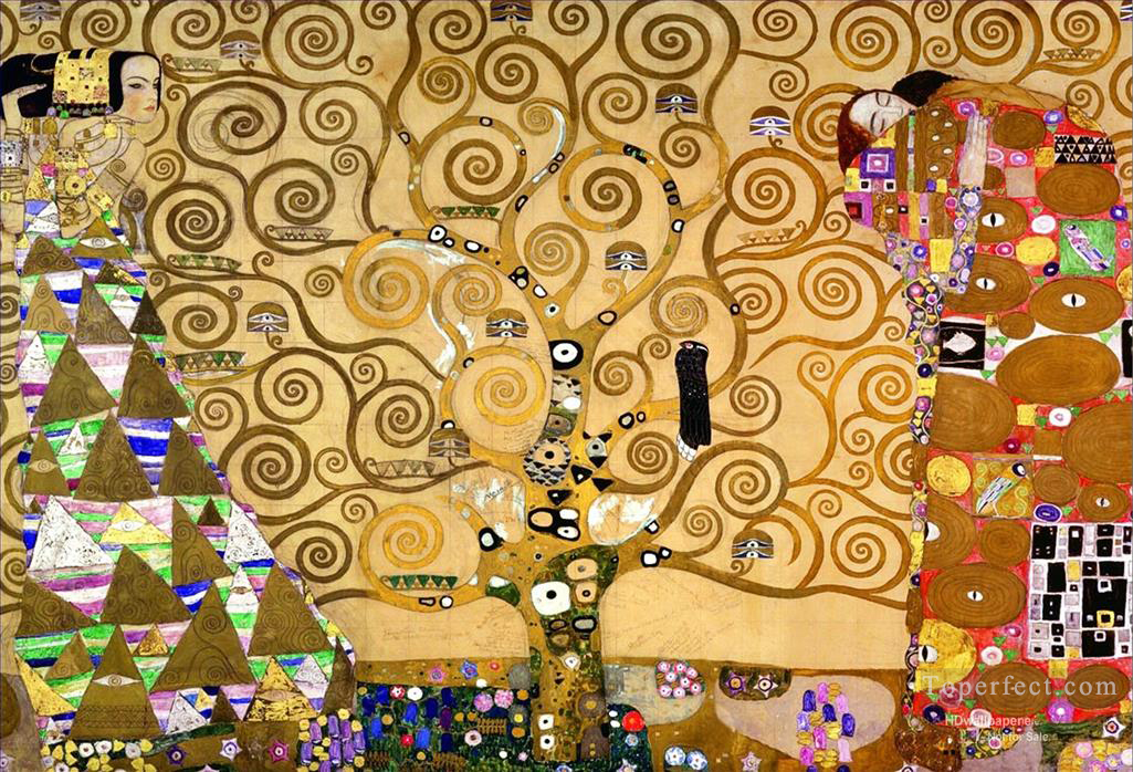 The Tree of Life Stoclet Frieze Gustav Klimt Oil Paintings